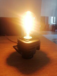 Csináld magad! Asztali lámpa hengerszettből
